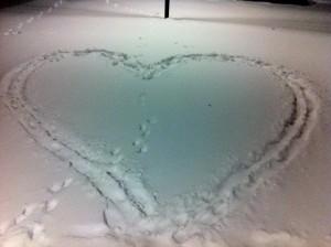 Snöhjärta i Stockholm