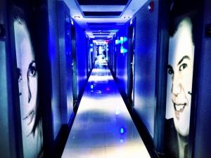 Korridoren på hotellet
