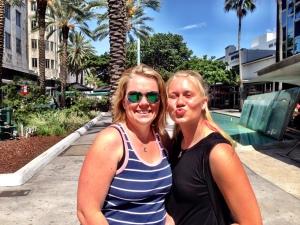 Katta och Erica vid Miami Beach